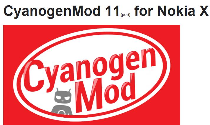CyanogenMod for Nokia X