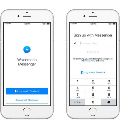 Signup with Messenger without Facebook ID