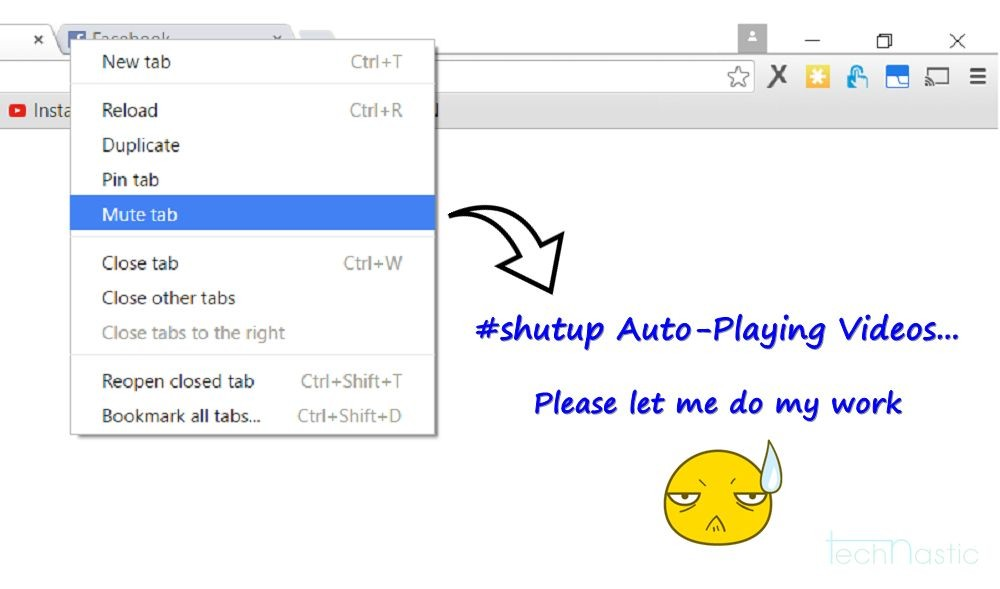 Mute Tab in Google Chrome