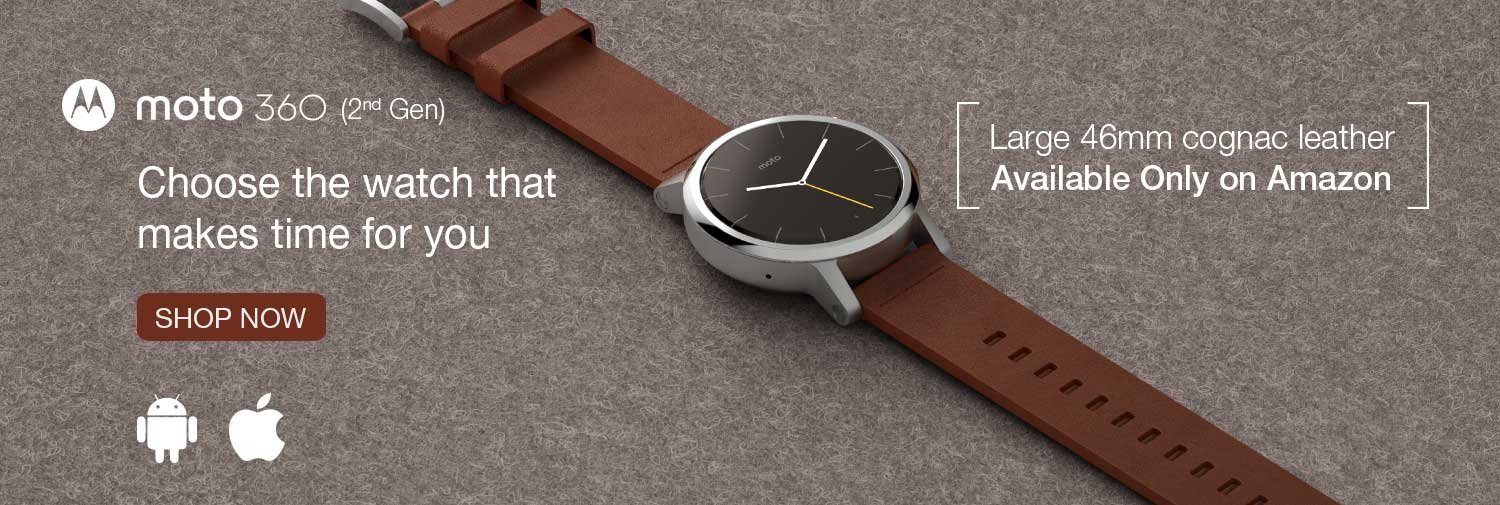 Moto 360 in India Amazon