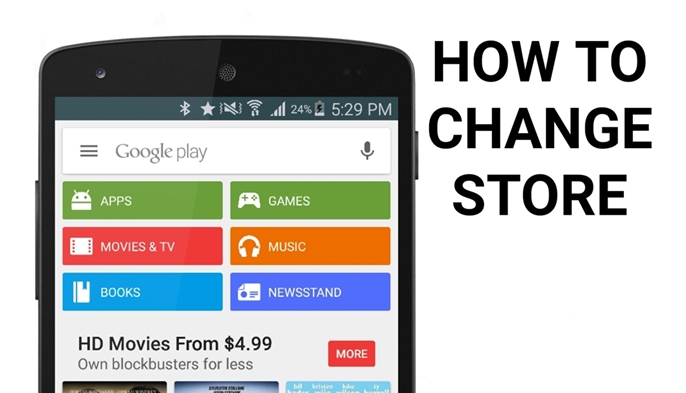 change play store country
